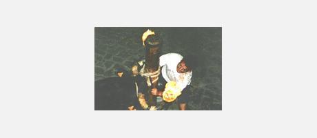 Img 1: Taureaux dans la rue