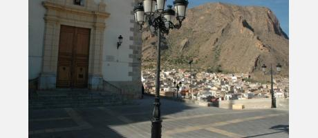 Fachada del Santuario y sus vistas de Callosa de Segura