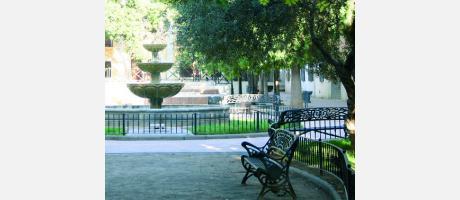 Fuente de la Plaza Corazón de Jesús.