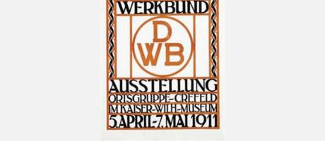 Cartel de Deutscher Werkbund 1907-2007. Cien años de arquitectura y diseño en Alemania 1907-2007