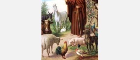 Pintura de San Antonio Abad