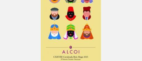 Cartel de la Cavalgata de Reyes de Alcoi