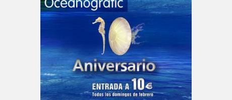Cartel 10 aniversario Oceanogràfic