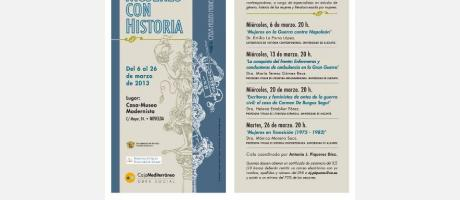 """Img 1: Ciclo de Conferencias """"Mujeres con Historia"""""""
