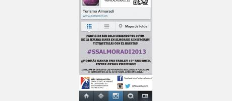 concurso fotográfico en instagram durante la semana santa de Almoradí