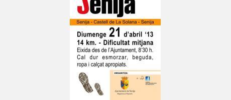 Img 1: Senderismo en Senija.