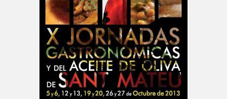 Cartel jornadas gastronómicas de Sant Mateu