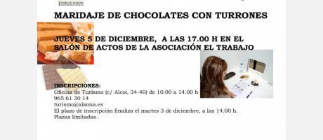 Maridaje de Chocolates con Turrones
