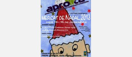 Cartel del mercado de Navidad en Almassora 2013