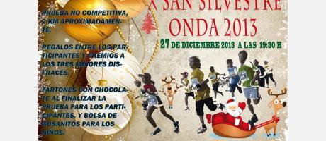 cartel carrera San Silvestre Onda 2013
