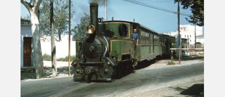 La Panderola, el tranvía a vapor