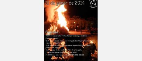 Cartel oficial de San Antonio en Les Coves de Vinromà 2014