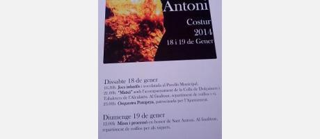 Cartel oficial San Antonio Abad en Costur 2014