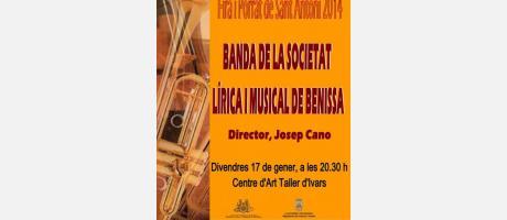 Cartel del concierto de la Banda de Benissa