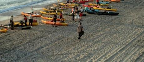 Imagen participantes en kayak