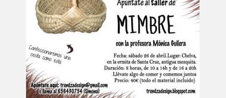 TALLER DE MIMBRE CHELVA 2014