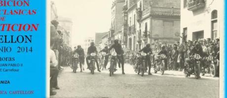 Cartel exhibición motos clásicas