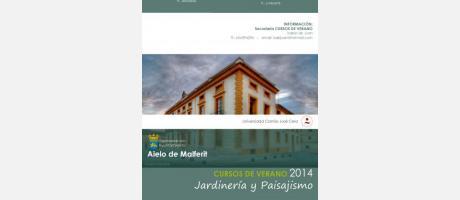 Cursos Jardineria y Paisajismo. Verano 2014 en Aielo de Malferit.