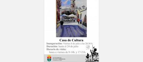 Exposición de Acuarela de Miguel Torralba Saura de Pilar de la Horadada