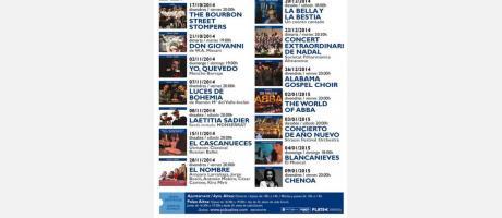 PALAU ALTEA: programa octubre 14 - enero 15