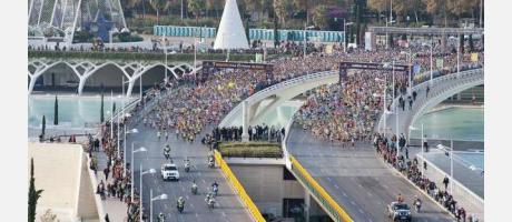 Vista general de la Maratón de Valencia