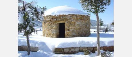 Una caseta nevada