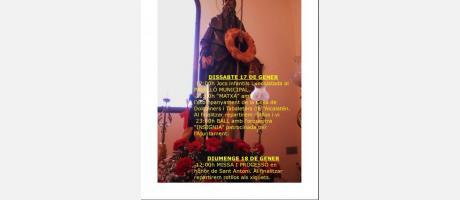 Cartel San Antonio Abad en Costur 2015