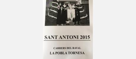Cartel San Antonio Abad en La Pobla Tornesa