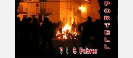 Cartel Fiesta de San Antonio en Portell de Morella