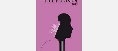 Cartel de los conciertos de invierno en color morado