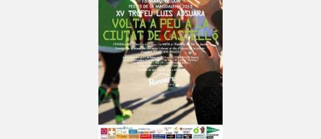 "Cartel XV ""Volta a Peu"" a la Ciudad de Castellón 2015"
