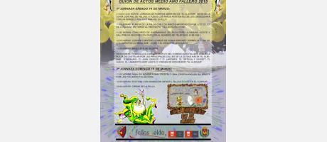 Cartel Medio Año Fallero Elda 2015
