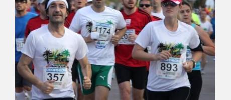Un grupo de corredores