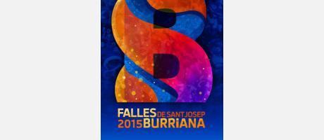 Cartel anunciador de las fiestas de Fallas Burriana 2015