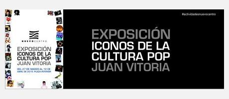 Cartel de la exposición iconos de la cultura pop por Juan Vitoria