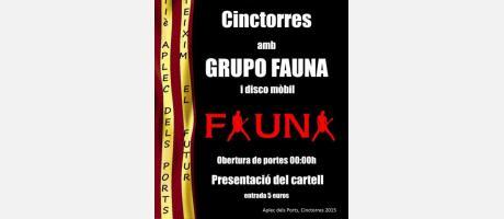 Cartel anuncio de la Orquesta Fauna