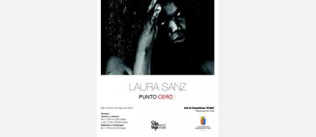 "Cartel ""Exposición Laura Sanz"""