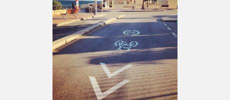 Más de 30 kms. de carril bici que unen el pueblo con la costa
