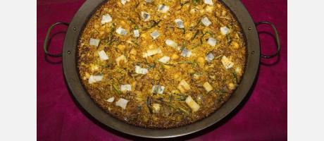 Paella de coliflor. Restaurante Telero - Gandia - València Terra i Mar