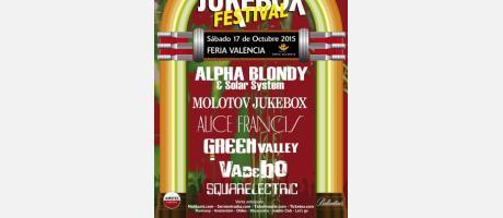 Cartel del festival Jukebox con los nombres de los grupos