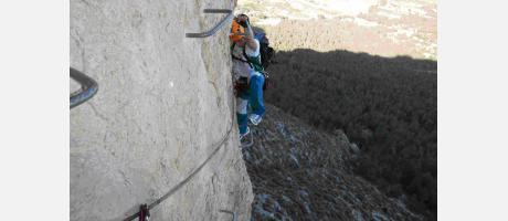 Vía Ferrata con Trail Natura en el Ponoig