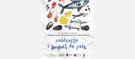 Cartell de les I Jornades Gastronòmiques de Plats Tradicionals de Borriana