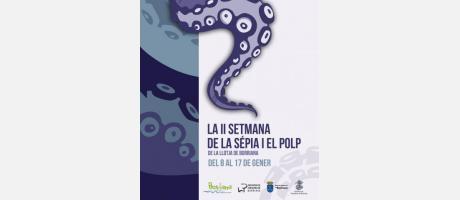 Cartel anunciador de la II Setmana de la sépia i el polp
