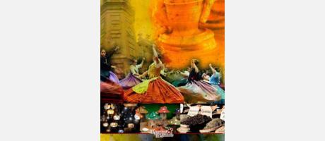 Cartel promocional del Mercado Tradicional Barrio de Ruzafa