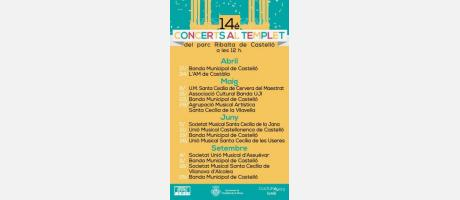 Cartel Concerts al Templet 2016