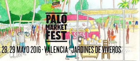 Dibujo de los jardines de Viveros con el Palo market fest