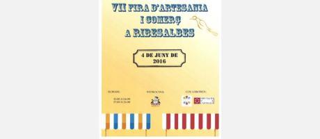 Cartel Feria del comercio en Ribesalbes