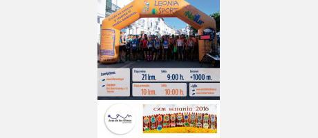 Cartel informativo de carrera de montaña en Aras de los Olmos el 12 de junio