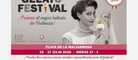 Cartel anunciador del Gelato Festival 2016