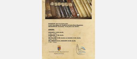 Exposició arxiu parroquial EPNDB